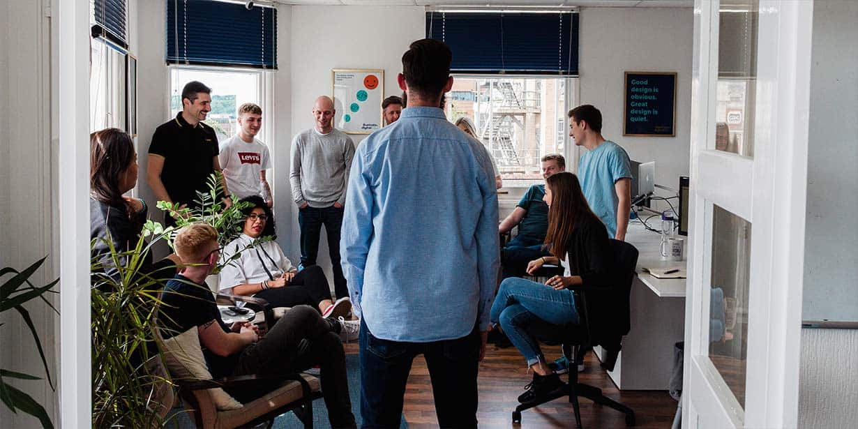Scott Jones Addressing The Team at Illustrate Digital