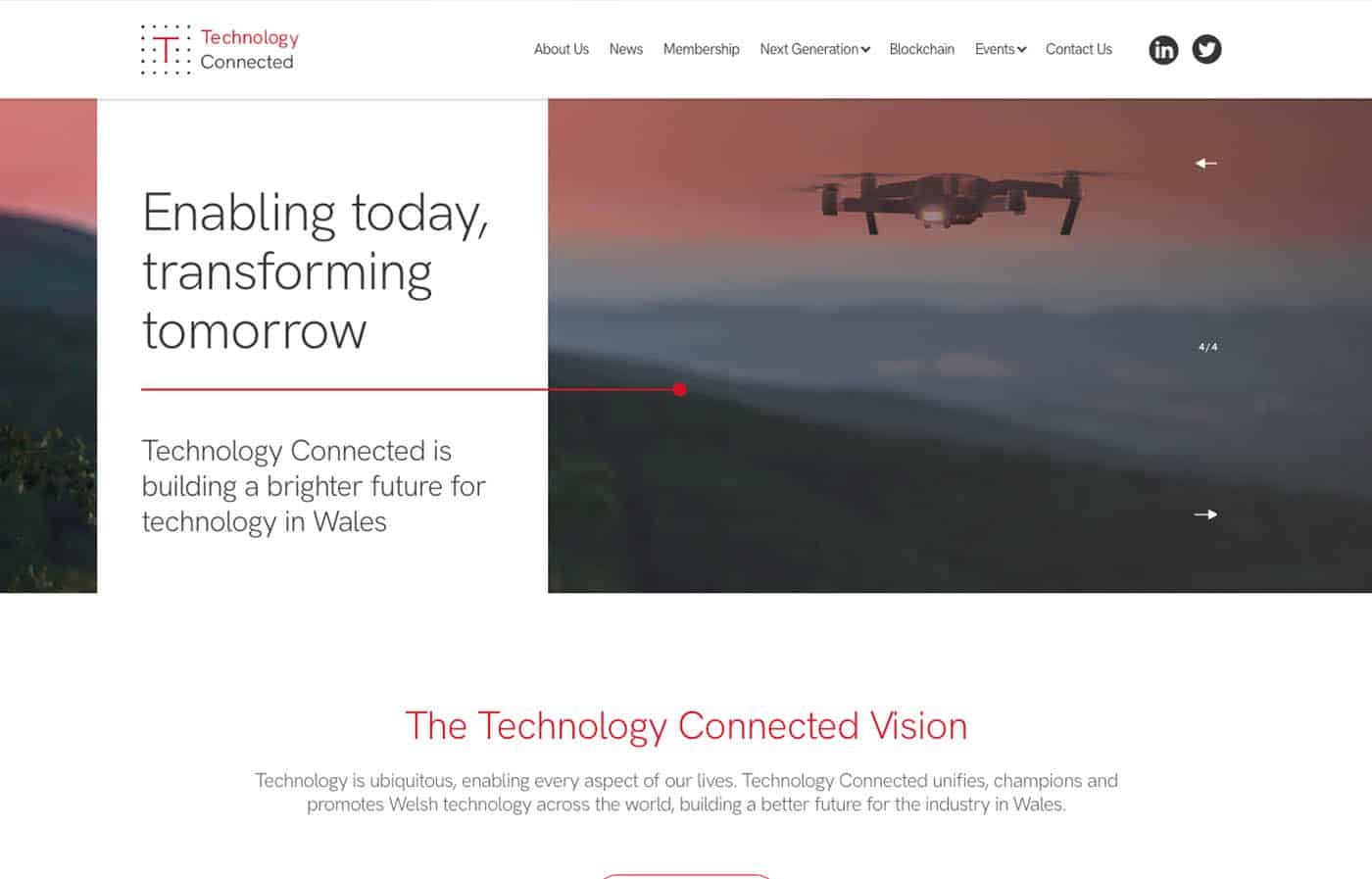 Technology Connected Website in Wales